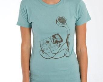 Geiger Counter Screen-Printed Science Nerd T-Shirt - Men's & Women's