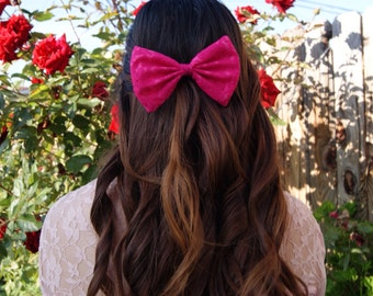 Hot Pink Lace Bow
