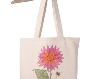 Organic Cotton Canvas Sunflower Totebag