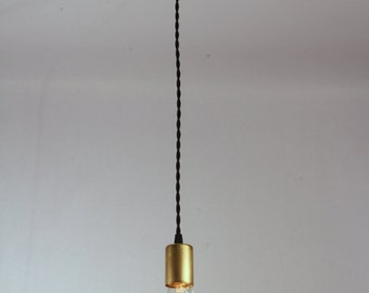 Brass Pendant Light, Single Socket