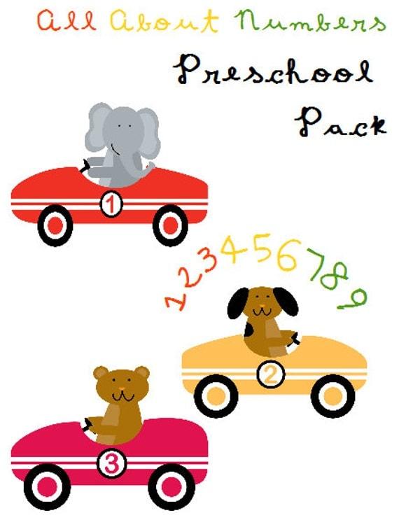 Number Names Worksheets preschool math worksheet : preschool printable math worksheets for by Ellemenopotomus on Etsy
