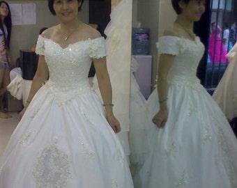 Beautiful Satin Wedding Dress