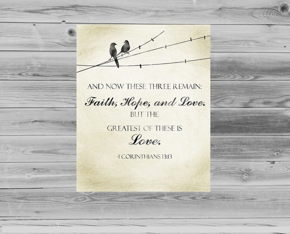 Printable Scripture Wall Art 1 Corinthians 13:13