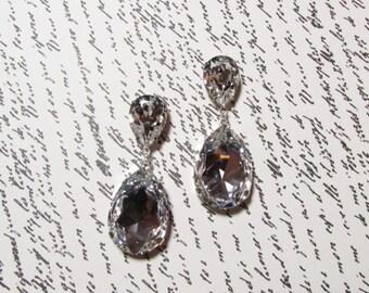 Pear Drop Earring Crystal Bridal Earring Bridal Jewelry Vintage Style Rhinestone Bridal Swarovski Crystal Drop Earring