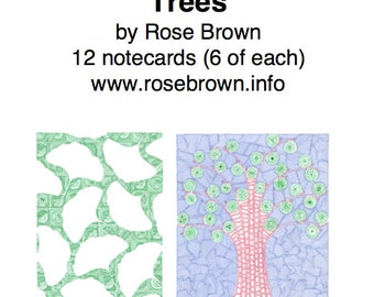 Pack of 12 Notecards: Trees