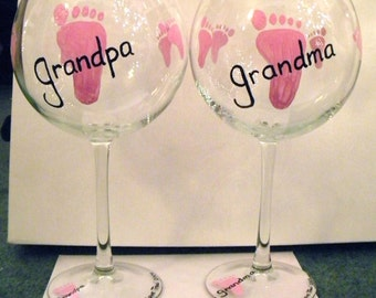 Baby Feet Wine Glasses (pair)