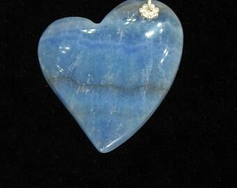 "Blue ""Falling Heart"" Italian Onyx Pendant"