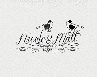 Wedding Logo Design Premade Photography Logo  Watermark Design, Premade Photography Logo -Anniversary logo birds logo Business Logo -
