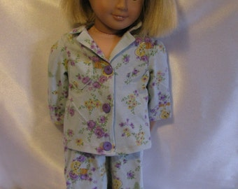 "DOLL PAJAMAS. Fits American Girl Doll. 18"" doll. Doll PJ's.  2-pc pajamas.  Jammies. Tweety Bird pajamas. Doll outfit.  18"" doll outfit."