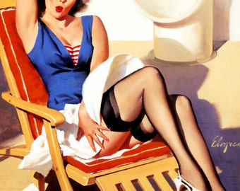 1950's Vintage Pin-Up Girl Poster 1