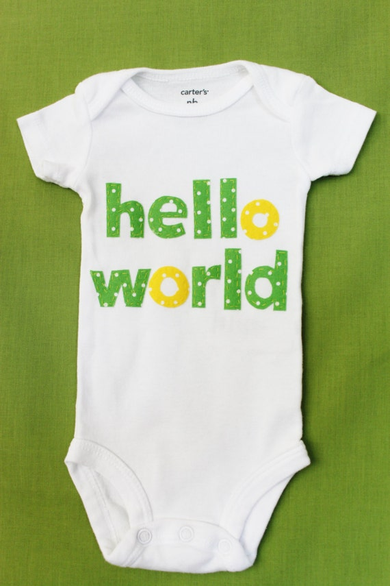 Items Similar To Hello World Onesie On Etsy