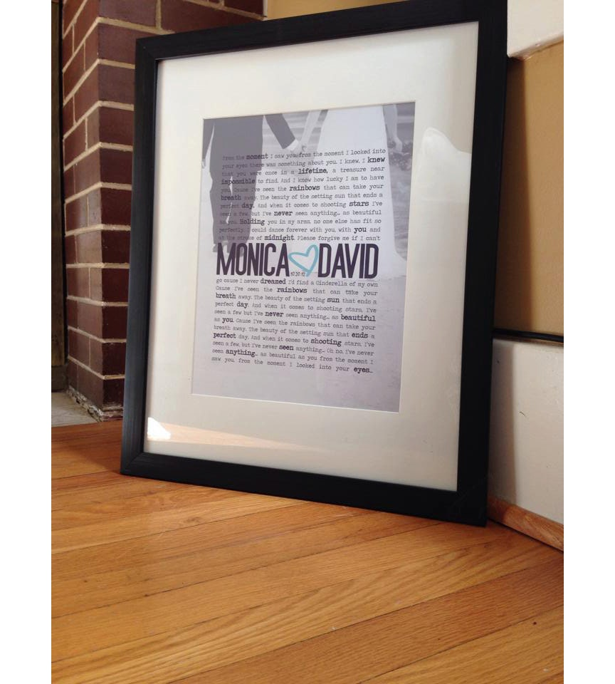 frame my wedding vows