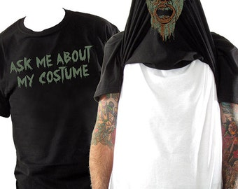 Halloween Costume Flip Shirt - Zombie costume, Zombie mask, Zombie shirt - All sizes in stock!