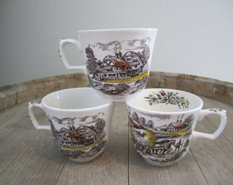English Countryside Tea Cups (Set of 3)