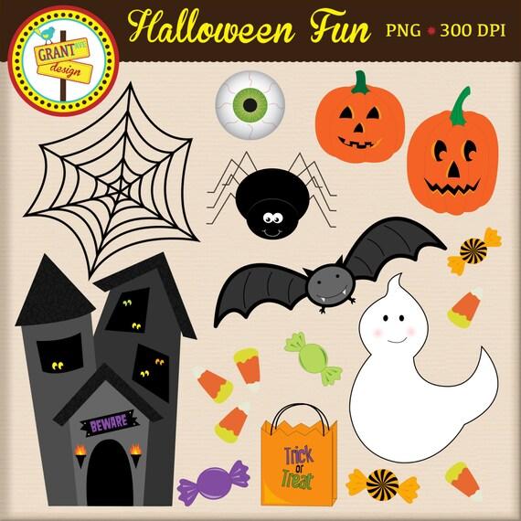 Halloween Clipart - Halloween Clip Art - Cute Digital Clipart - Personal Use - Commercial Use - Card Design Scrapbooking Web Design