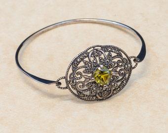 Vintage Bracelet - Vintage Sterling Silver and Marcasite Bracelet