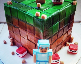 Minecraft Fondant Cake Decorations