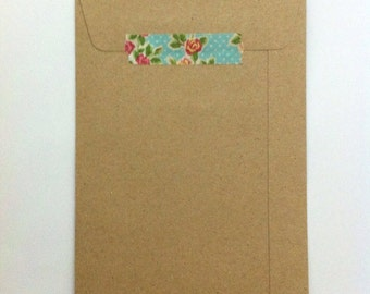 Kraft Envelopes -  Set of 25 - 4.5 x 7 inches - Brown Kraft Envelopes - Postcards/Packaging/scrapbooking/Organizing/invitation