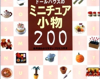 Miniatures Polymer Clay PDF/Fimo Clay Japanese eBook/Miniature Clay Food Toys/Instant Download PDF (CLY01)