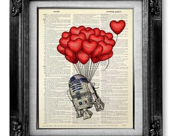 Star Wars HEART Art, LOVE Wall Art, Star Wars Art Star Wars Print, Cute Boyfriend GIFT, Funny Husband Gift, Star wars Wall Art, Office Decor