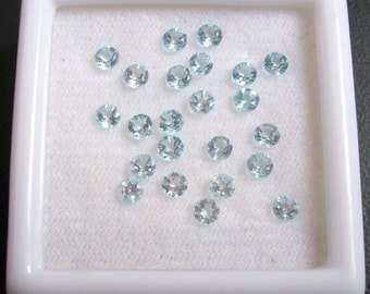 25 pieces 1.75mm Swiss Blue Topaz Faceted Round Gemstone, Natural SWISS BLUE TOPAZ Round Faceted Gemstone, swiss blue topaz faceted round