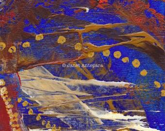 Sunset Blvd Fine Art Print. Abstract Art, Modern Art, Hollywood Art, Los Angeles Art, California Art, Paint Splatter, Knife Painting