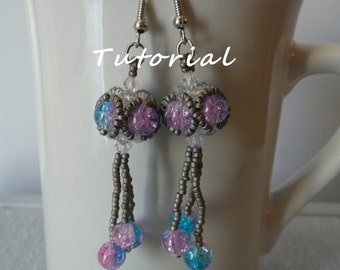 Beaded Earring Tutorial, Beading Tutorial, Jewelry Tutorial, Beaded Earring Pattern, Jewelry Pattern