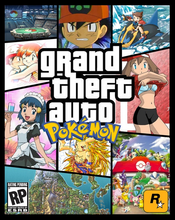 Grand Theft Auto V A4 Poster GTA 5 Poster Print Pokemon Poster