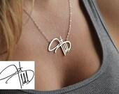 Personal Signature Necklace, Silver Signature Necklace, Name Necklaces, Handwritten Name Necklace