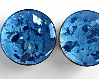 "Blue crush glass plugs 1"""