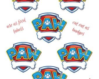 Gallery For gt Blank Paw Patrol Badge