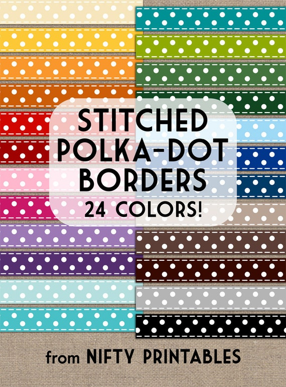 Basket Weaving Supplies Richmond Va : Stitched polka dot ribbon clip art set in colors