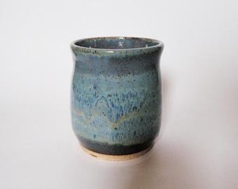 Blue Stoneware Crock