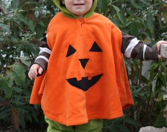 pumpkin halloween carnival costume cape for toddlers