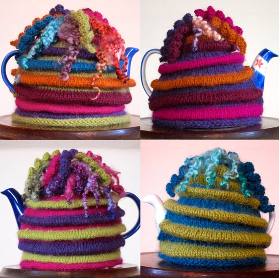 Knitting Patterns For Wensleydale Wool : Wensleydale Tea Cosy KNITTING PATTERN from by JeanMossHandknits