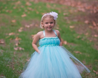 Tiffany blue flower girl dress | Etsy