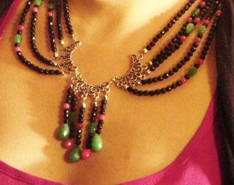 Elizabeth - semi precious stone beaded necklace