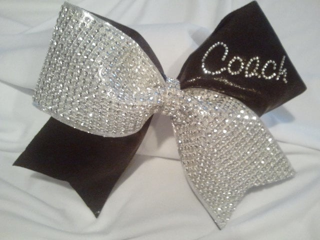 Cheer Coach Bow Big Luxury Bling Bow With Personalized