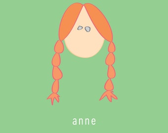 Anne of Green Gables:  5x7 digital file