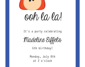 Madeline Party Invitation: printable