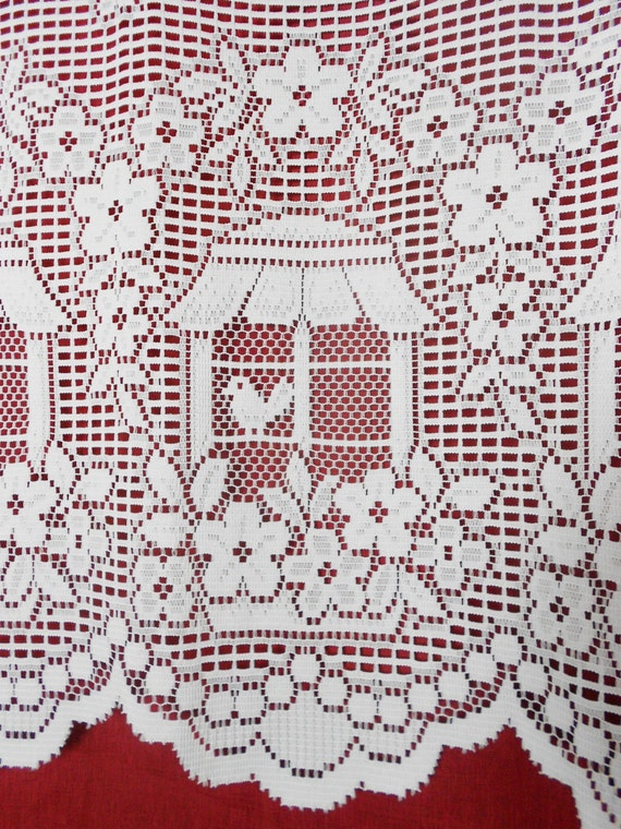 Bird cage, french country fabric, used lace fabric, drape panel.
