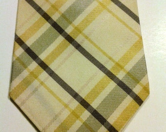 Vintage Necktie Yellow Gray Black