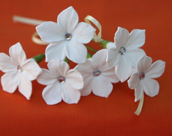 White Stephanotis Hair Flower-Set of 6