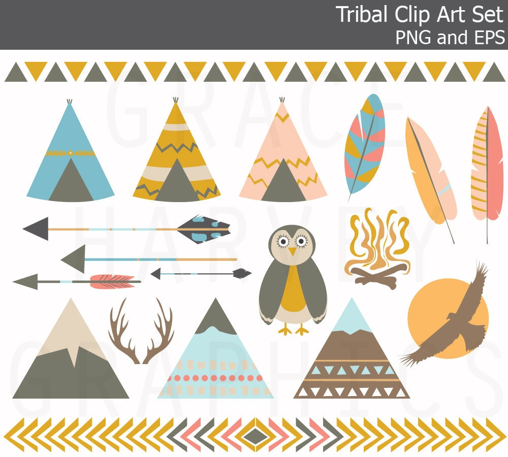 Aztec Arrow Clip Art Owl Arrow Feather Clip Art