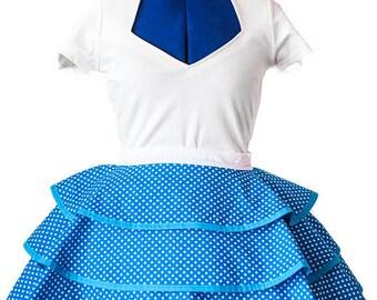 Retro Blue Polka Dot Apron
