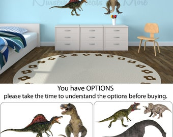 Dinosaur Wall Decals, Dinosaur Stickers, Dinosaur Decals (Mini Real Dinos Set 1 shown) MRD1