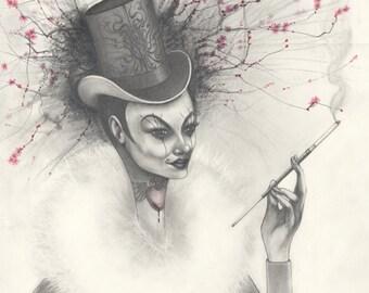 Tophat Lady Illustration