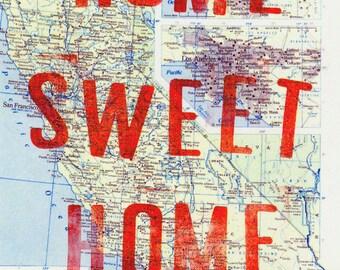 California Home Sweet Home Postcard