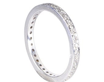 18 Kt White Gold Ring set all over with Diamonds