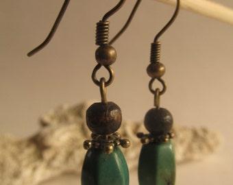 2133 - Earrings Wood, Resin